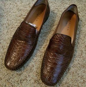 Men's Mezlan crocodile skin shoes /Size 13